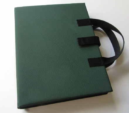 A3 Communication Book - Core & Fringe Vocabulary: Fabric Pages - Bottle Green